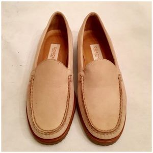 Coach Suede Loafers, Cream
